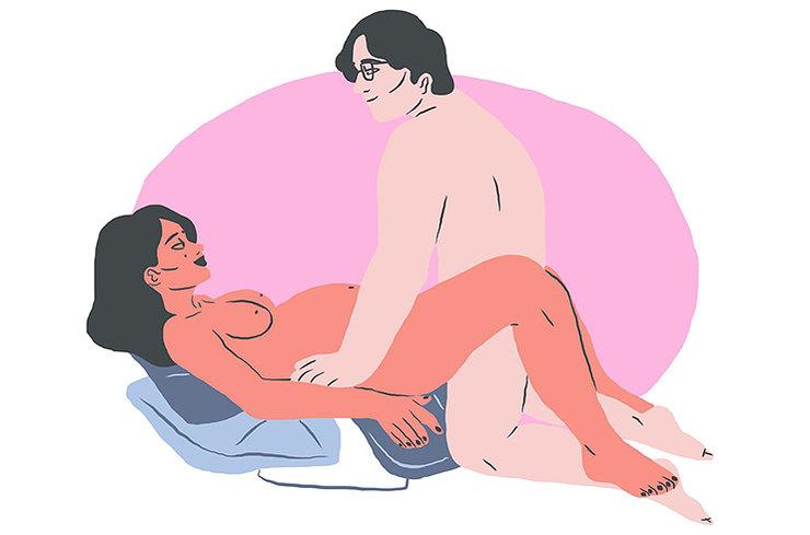 7 интригующих поз в сексе для беременных.