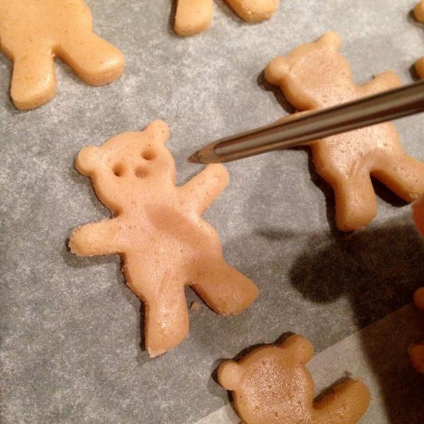 """Печенье """"Мишки с миндалём"""""""