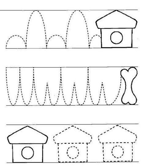 Тренируем руку для письма - шаблоны.